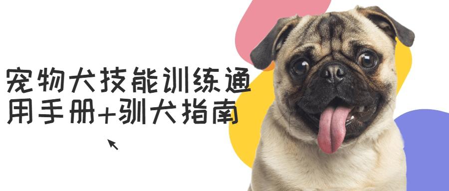 宠物狗技能训练通用手册驯狗指南