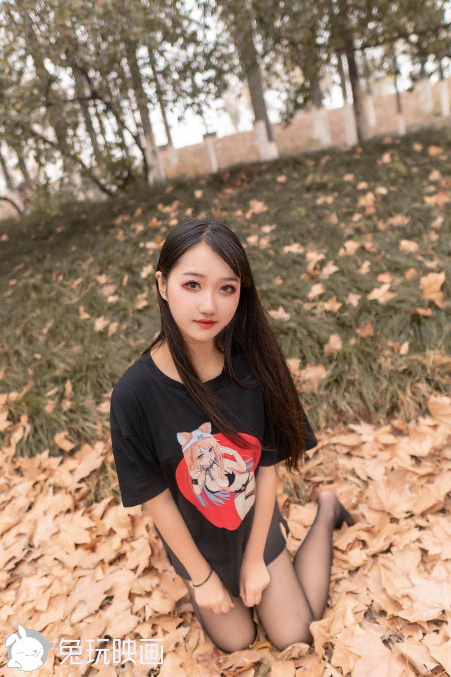 兔玩映画秋日里的枫叶林[41P486M]插图1