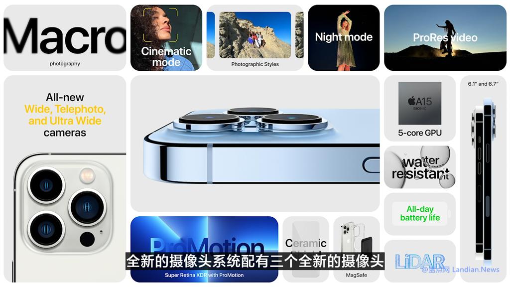 苹果公司推出iPhone13Pro和ProMax版120Hz适应更新率成为最大的亮点